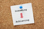 Dreaming to Achieving — Stock Photo