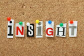 The word Insight — Stock Photo