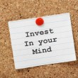 Invest In Your Mind — Stock Photo