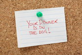 Your Dinner is in the Dog! — Stock Photo