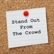 Foto Stock: Stand Out From Crowd