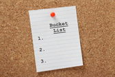 Empty Bucket List — Stock Photo