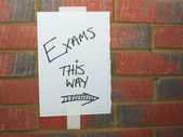Exams This Way — Stock Photo