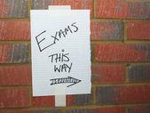 Exams This Way — Stock Photo