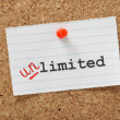 Limited becomes Unlimited — Stock Photo