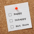 Happy, Unhappy or Not Sure? — Stock Photo