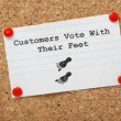 Stock Photo: Customers Vote With Their Feet