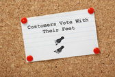 Customers Vote With Their Feet — Stock Photo