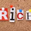 The word Rich — Stock Photo