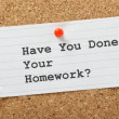 Have You Done Your Homework? — 图库照片