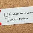 Stock Photo: Hunter Gatherer or Couch Potato?