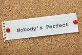 Nobody's Perfect — Stock Photo