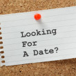 Stock Photo: Looking for Date?