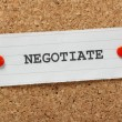 Negotiate — Stock Photo