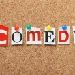 The word Comedy — Stock Photo