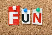 The word Fun — Stock Photo