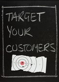 Target Your Customers — Stock Photo