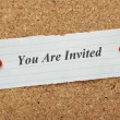 Stock Photo: You Are Invited