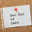 Stock Photo: Get Out of Debt
