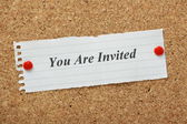 You Are Invited — Stock Photo