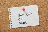 Get Out of Debt — Stock Photo