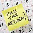 Stock Photo: File Tax Return