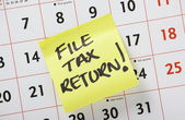 File Tax Return — Stock Photo