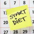 Start Diet Reminder — Stock Photo