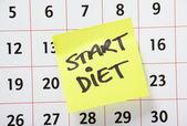 Start Diet Reminder — Stock Photo