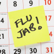 Flu Jab Reminder — Foto Stock