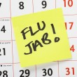 Flu Jab Reminder — Stock Photo