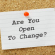 Are You Open to Change? — 图库照片