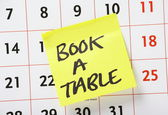 Book A Table Reminder — Stock Photo