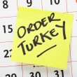 Order Christmas Turkey Reminder — Stock Photo