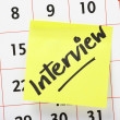 Interview Reminder — Stock Photo
