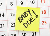 Baby Due Date Reminder — Stock Photo