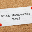 What Motivates You? — Stock Photo