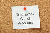 Teamwork Works Wonders — Stock Photo