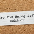 Are You Being Left Behind? — Stock Photo