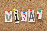 The word Viral — Stock Photo