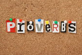 The word Proverbs — Stock Photo