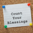 Stock Photo: Count Your Blessings