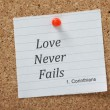 Love Never Fails — Stock Photo #37538975