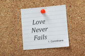 Love Never Fails — Stock Photo