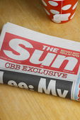The Sun Newspaper — Fotografia Stock