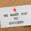 Stockfoto: We Want You to Succeed