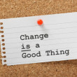 Stock Photo: Change is Good Thing