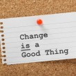 Change is a Good Thing — Stock Photo