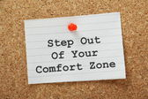 Step Out of Your Comfort Zone — Stock Photo