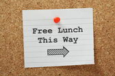 Free Lunch This Way — Stock Photo